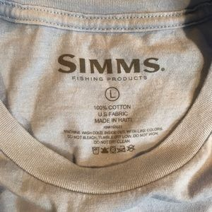 simms Shirts - Simms T Shirt (Light Blue, Large)